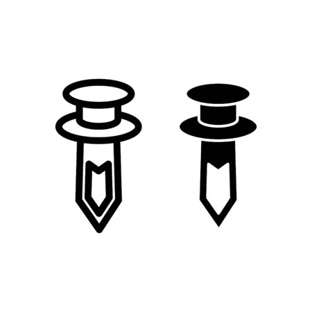 Bumper Clips icon, fastener clips icon, vector illustration Vectores