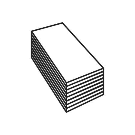 Icono de placa de yeso, ilustración vectorial