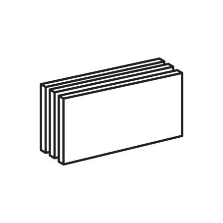 Icône de plaques de plâtre, illustration vectorielle