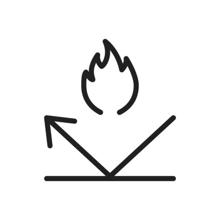 fireproof icon, line vector illustration