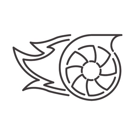Turbo icon, line vector illustration