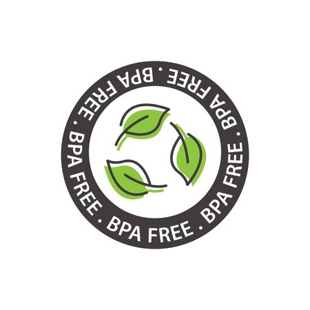 BPA free icon, vector illustration