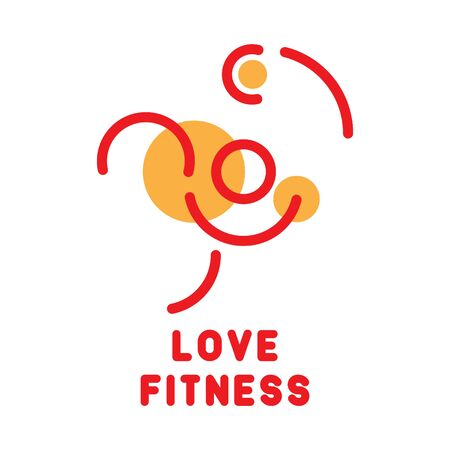 Gym or fitness logo, vector illustration