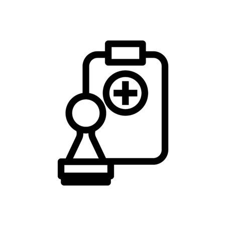 Icône de congé de maladie, illustration vectorielle Vecteurs