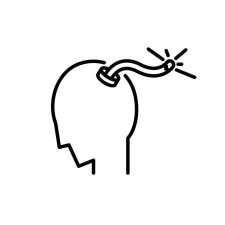 Stress icon, vector illustration