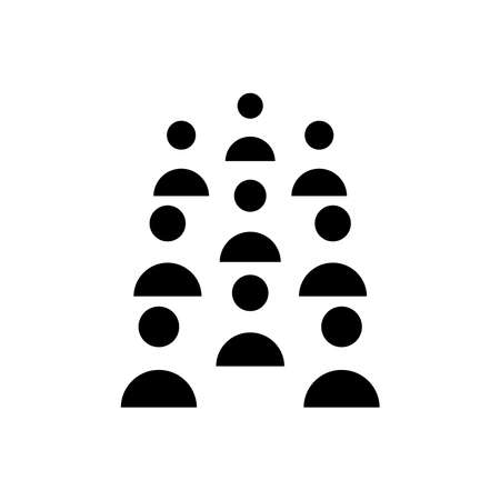 Headcount icon, vector illustration