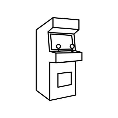 Game cabinet icon Illustration