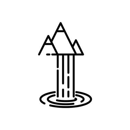 waterfall icon, vector illustration