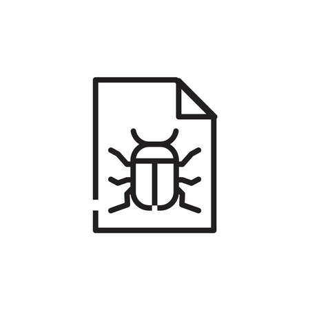 Bug icon, virus icon, vector illustration.