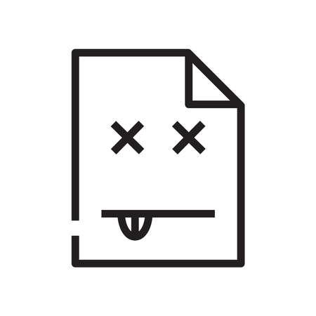 404 error icon, vector illustration