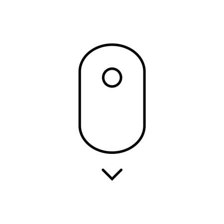 Scroll down up - computer mouse icon. - vector illustration.