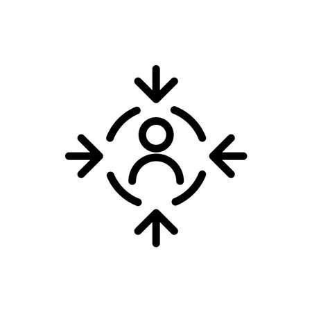 Focus icon, vector illustration.