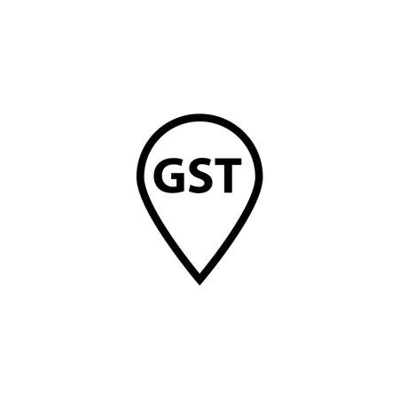 Goods and Service Tax acronym GST, vector illustration Banque d'images - 152483857