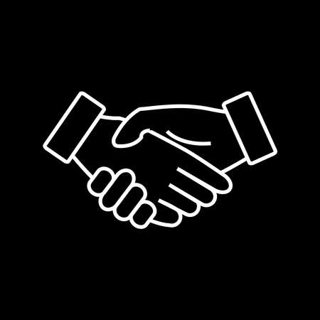 icon handshake business finance agreement handshake Illustration
