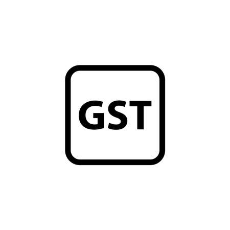Goods and Service Tax acronym GST, vector illustration