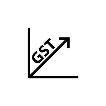 Goods and Service Tax acronym GST, vector illustration Archivio Fotografico - 152483876