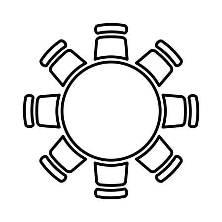 Round table icon, vector illustration