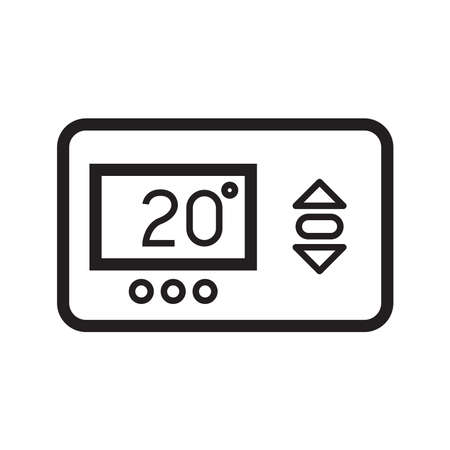 thermostat icon, vector illustration
