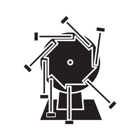 Perpetual motion icon, vector illustration