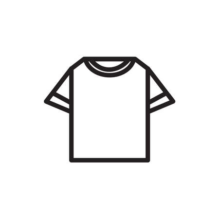 two side t-shirt icon, vector illustration