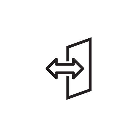 Two side icon, vector illustration