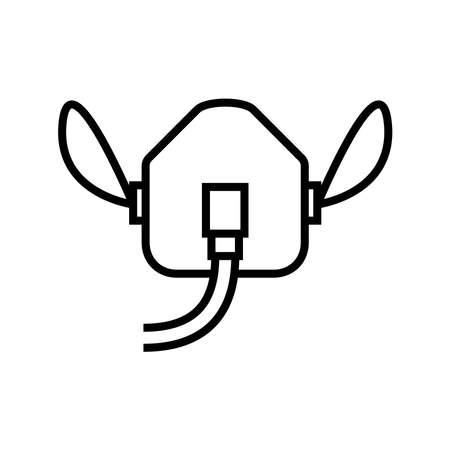 oxygen mask icon, vector illustration