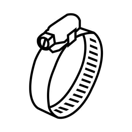 hose clamp icon, vector illustration