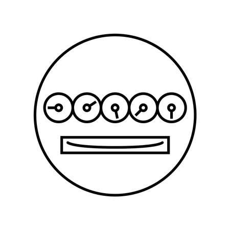 utility meter icon, vector illustration 向量圖像