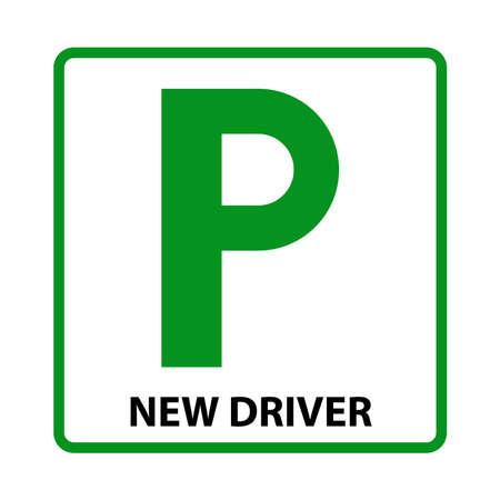 learner driver car icon, vector illustration