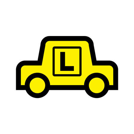 learner driver car icon