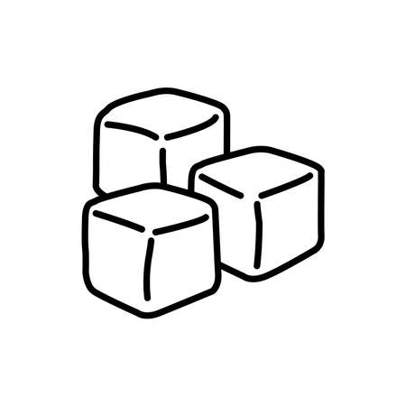 Sugar icon, vector illustration