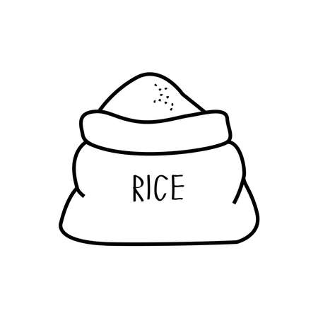 packaging rice icon, vector illustration