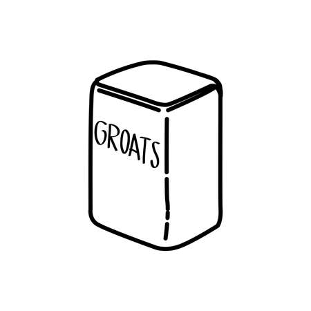 packaging groats icon, vector illustration.
