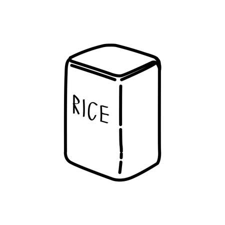 packaging rice icon, vector illustration Archivio Fotografico - 152483790