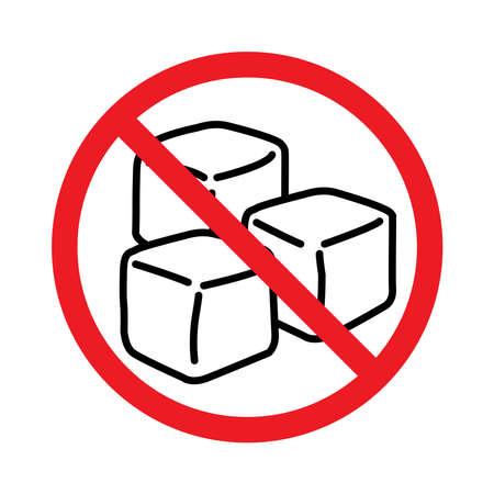 Sugar free icon, no sugar, vector illustration