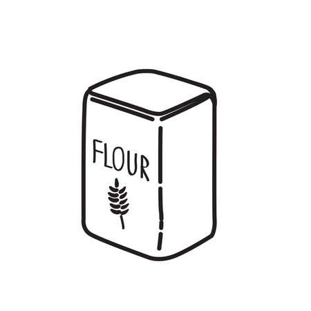 flour icon, vector illustration