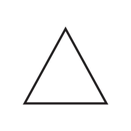 Triangle icon, vector illustration