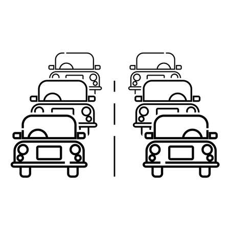traffic icon, vector illustration