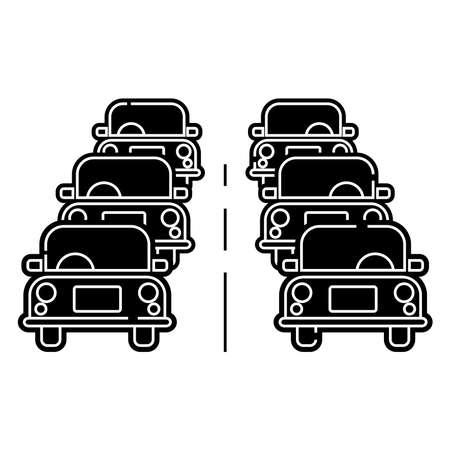 traffic icon, vector illustration