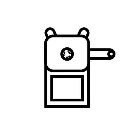 pencil sharpener icon with crank