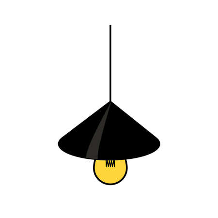 lamp icon, vector illustration. Illustration