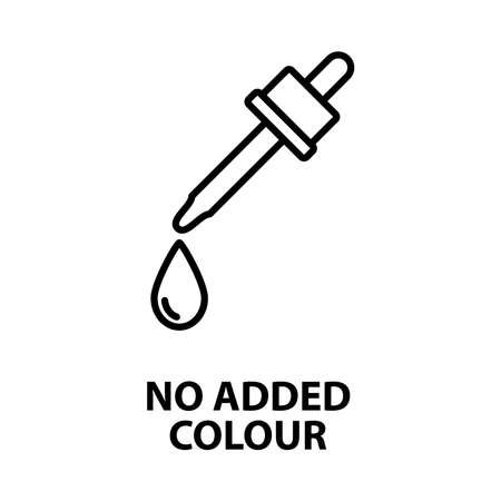 no added color icon - vector illustration.