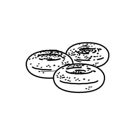 falafel icon, vector illustration Illustration