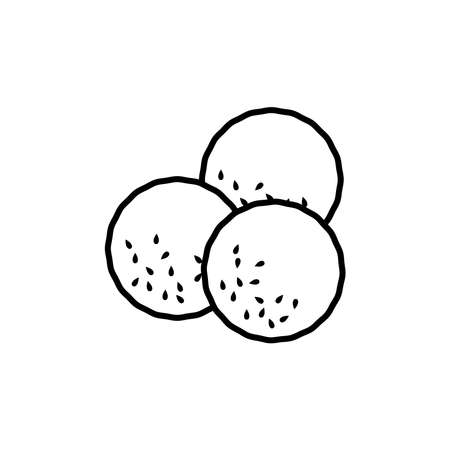 falafel icon, vector illustration Vettoriali