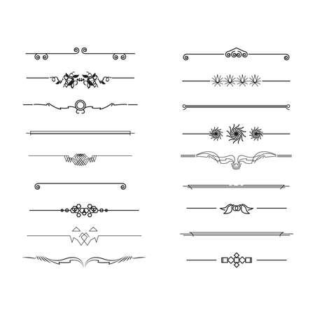 dividers and border, vector illustration Ilustração Vetorial