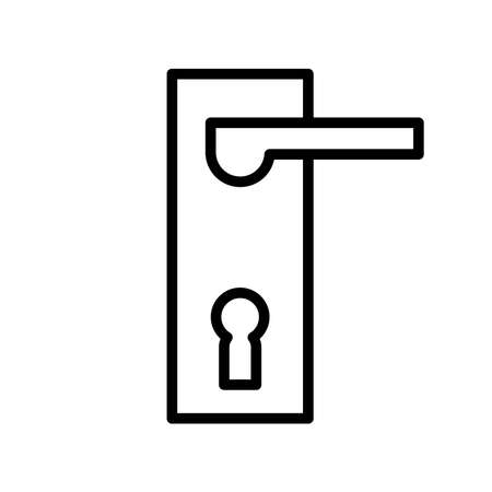 Keyhole icon, vector illustration Illustration