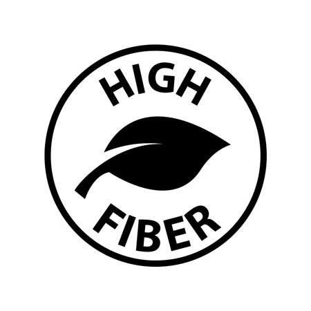 Fiber icon, vector illustration