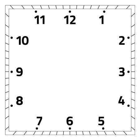 clock face blank on white background - Vector illustration