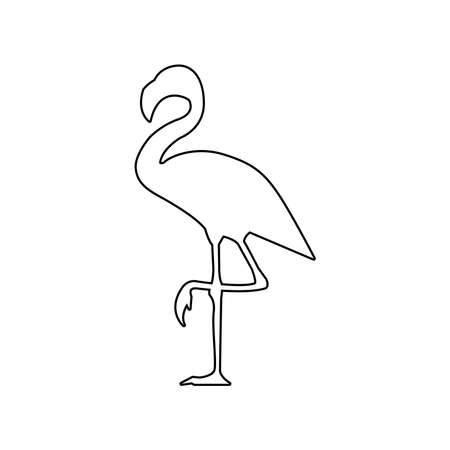 Flamingo icon - vector illustration