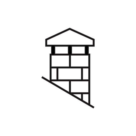 chimney icon - vector illustration